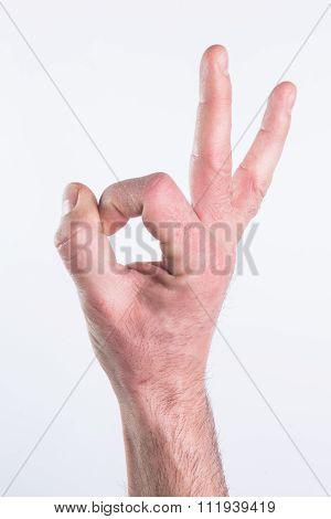 Hand Miming Ok
