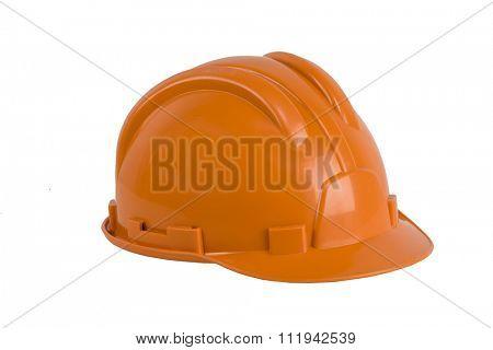 Orange hard hat, isolated on white