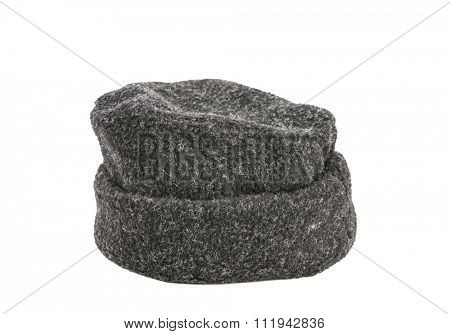 Warm Wool hat isolated on white