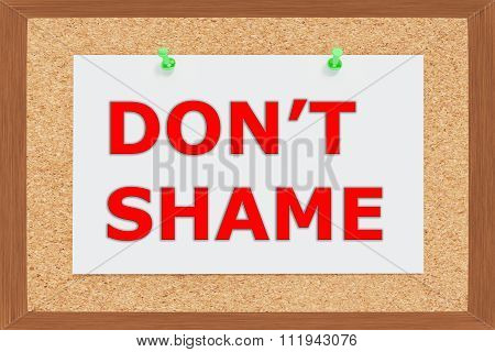 Dont Shame Concept