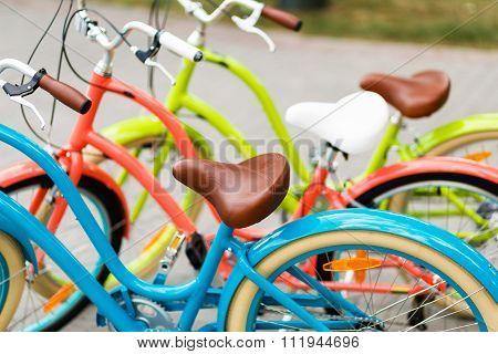Women's City Bike Row In The Store