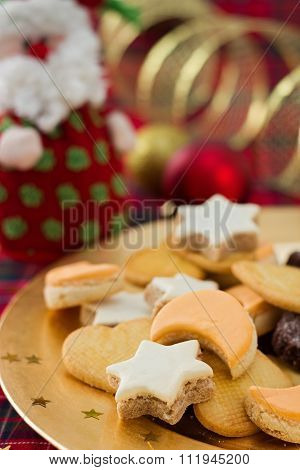Christmas Cookies, And Festive Decoration