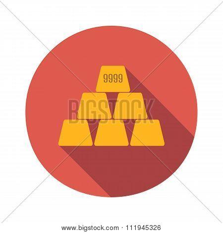 Golden flat icon