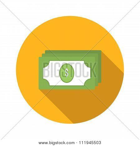 Bundle of money flat icon