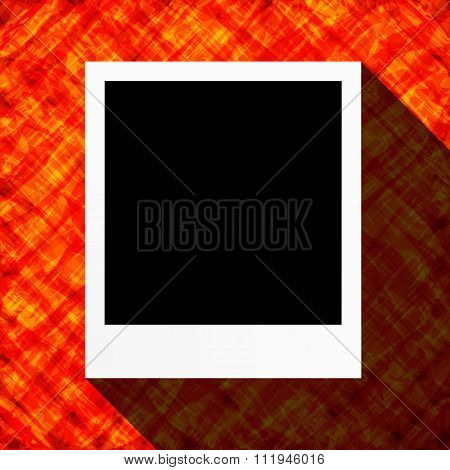 Abstract Flat Design Card With Blank Photo Frame