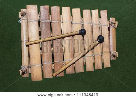 wooden african xylophone