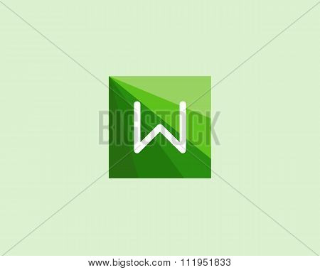 Abstract letter W logo design template.