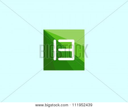 Abstract letter B logo design template.