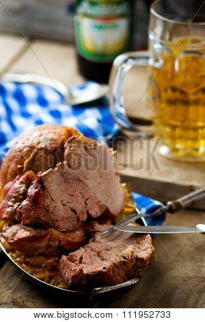 The Baked Pork Gammon With Sauerkraut