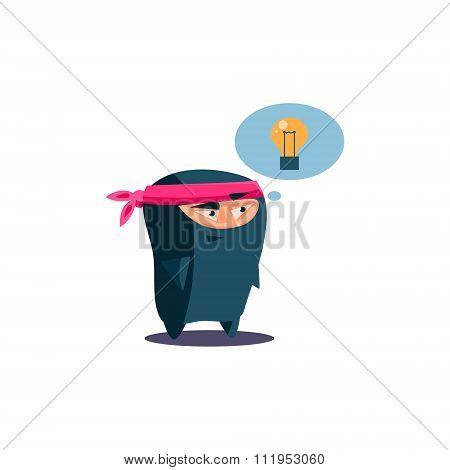 Cute Emotional Ninja Has Got an Idea