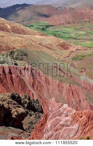 Andean region mountains background - arid multi-colored mountains (Northern Argentina)
