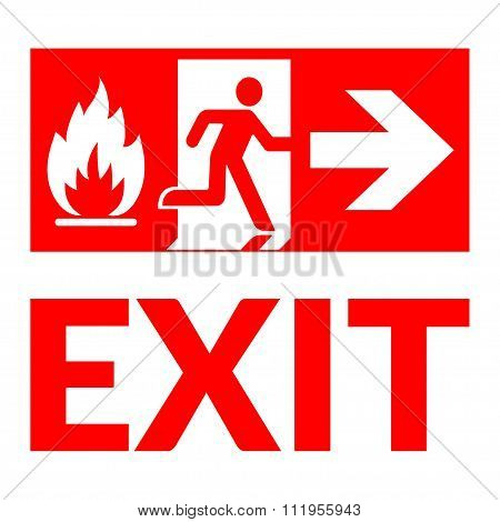 Exit Sign Fire