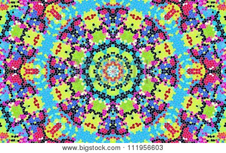 Bright Abstract Concentric Mosaic Pattern