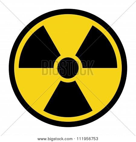 Radiation Yellow Sign