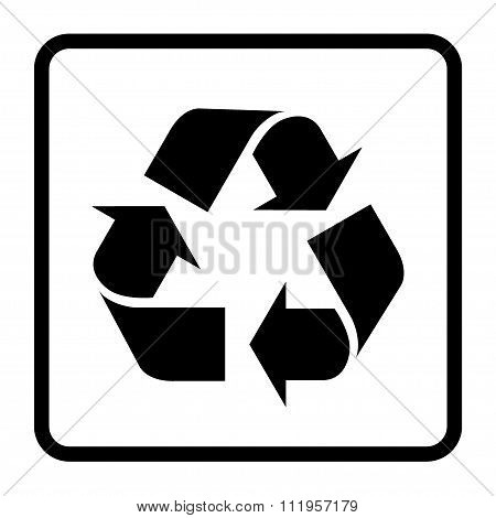 Recycle Black Sign
