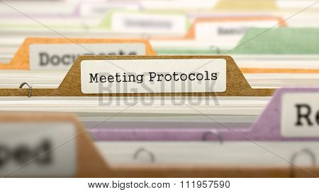 Meeting Protocols - Folder Name in Directory.