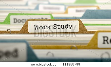 File Folder Labeled as Work Study.