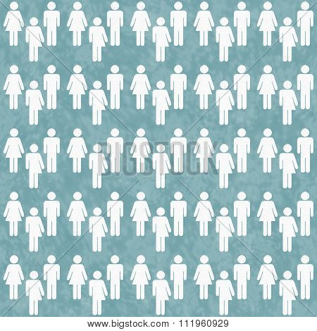 Teal And White Transgender, Man And Woman Symbol Tile Pattern Repeat Background