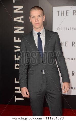 LOS ANGELES - DEC 16:  Will Poulter at the The Revenant Los Angeles Premiere at the TCL Chinese Theater on December 16, 2015 in Los Angeles, CA