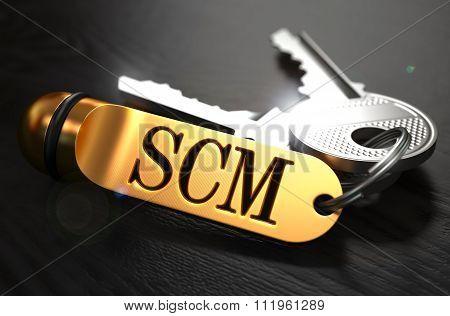 SCM written on Golden Keyring.