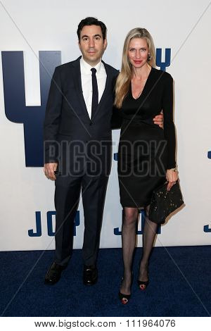 NEW YORK-DEC 13: Model Catherine McCord (L) and producer Jonathan Gordon attend the