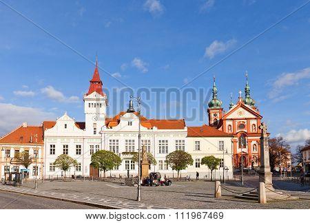 Marianske Square In Stara Boleslav, Czech Republic