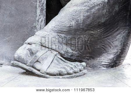 Bronze Feet Of A Statue
