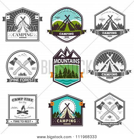 Vector camp label