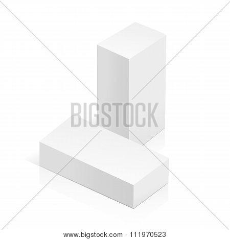 white 3D rectangles