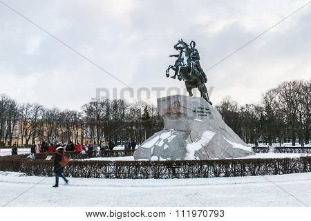 Monument Of Russian Emperor Peter The Great