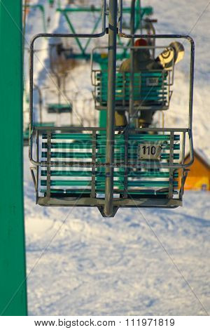 Chair Lift Of Ski Resort
