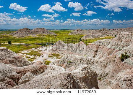 Scenic View Of The South Dakota Badlands