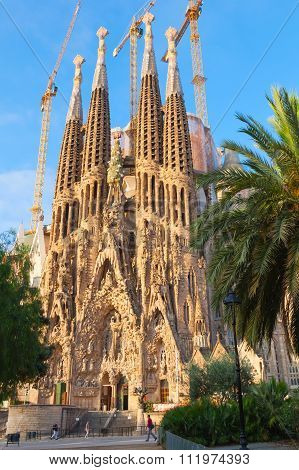 La Sagrada Familia In Summer Season