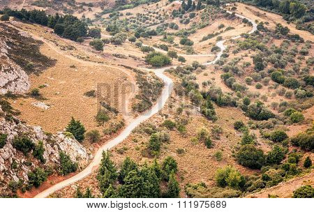 Curved Mountain Road