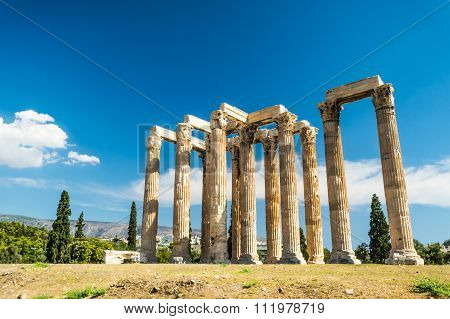 Temple of Olympian Zeus , Athens, Greece
