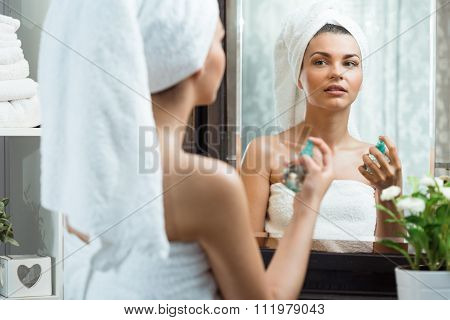 Woman Caring For Her Complexion