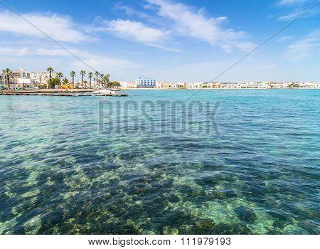Porto Cesareo Coastline In Ionian Coast, Italy