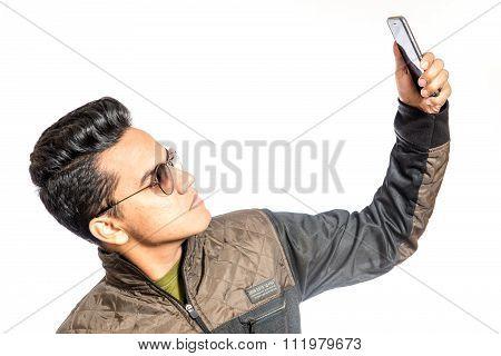 Happy Man Selfie