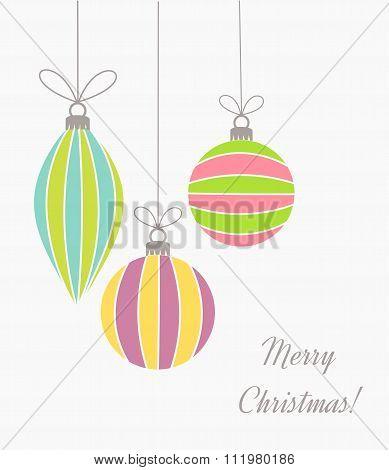 Christmas Retro Ornaments