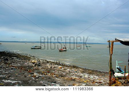 Fishing boats  from Java, Indonesia.