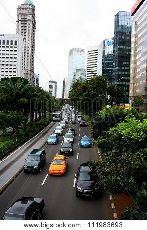 Jakarta City Panorama in Indonesia
