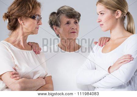 Senior Lady Solving Dispute