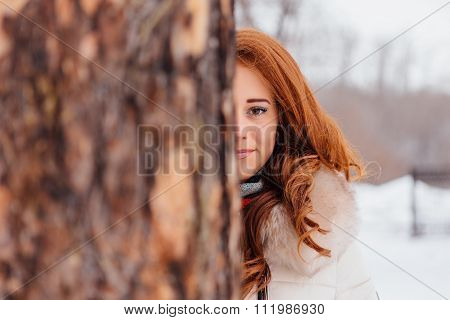 Beautiful Red Hair Girl.