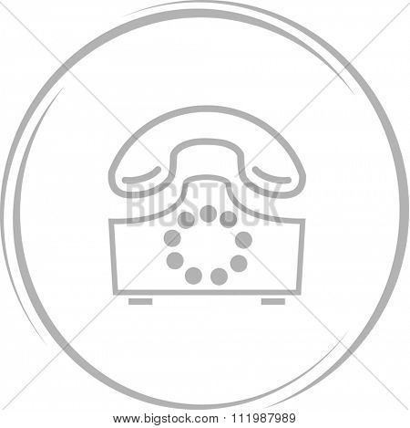 rotary phone. Internet button. Raster icon.