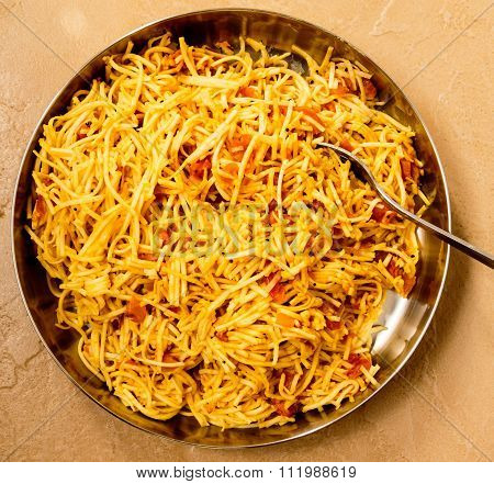 chow mein ~ chinese menu of stir-fried noodles