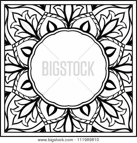 Sketch For Floral Frame.