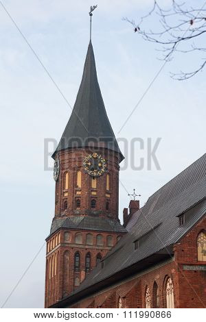 The tower with a weather vane