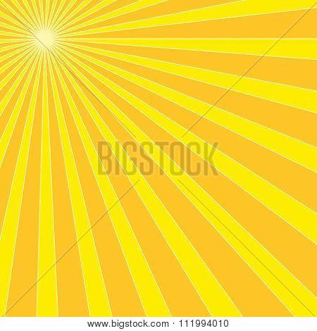 Sun Burst Design Vector Art