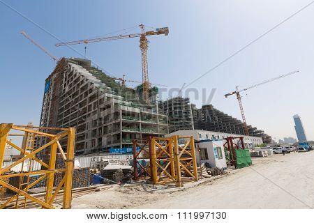 United Arab Emirates, Dubai, 10/13/2015, Viceroy Hotel development building site on the Palm, Dubai