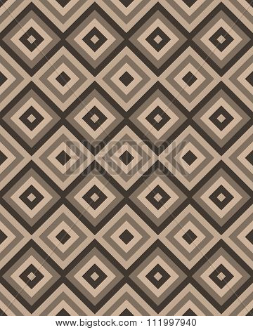 Beige Brown Square Seamless Pattern. Vector Illustration.